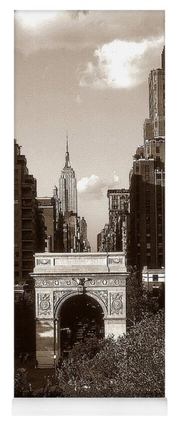 Washington Arch And New York University - Vintage Photo Art Yoga Mat