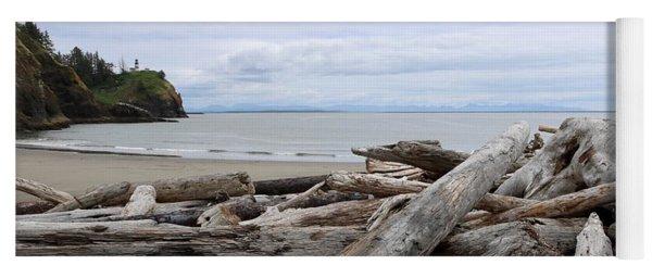 Washington Coastline With Driftwood Yoga Mat