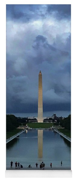 Yoga Mat featuring the photograph Washington From Lincoln by Lora J Wilson