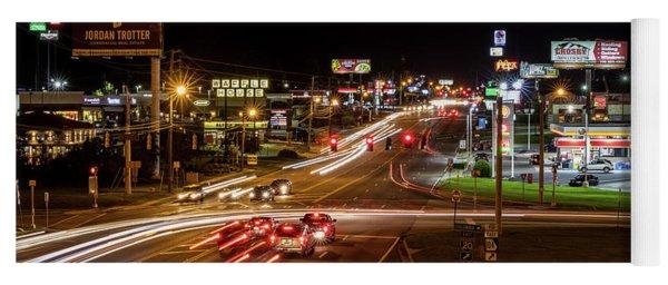 Washington Road At Night - Augusta Ga Yoga Mat