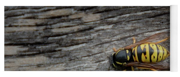 Wasp On Wood Yoga Mat