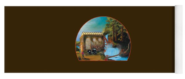 Water Wheel Overlay Yoga Mat