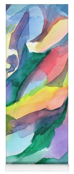 Watercolor Mosaic Yoga Mat