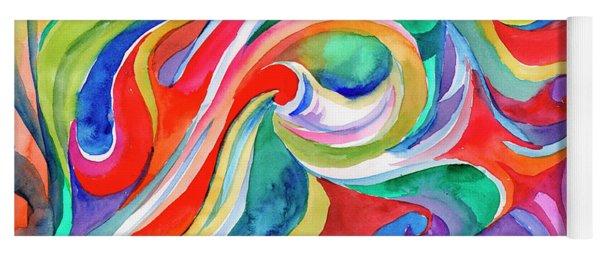 Watercolor's Swirl Yoga Mat
