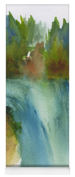 Waterfall Abstract Yoga Mat