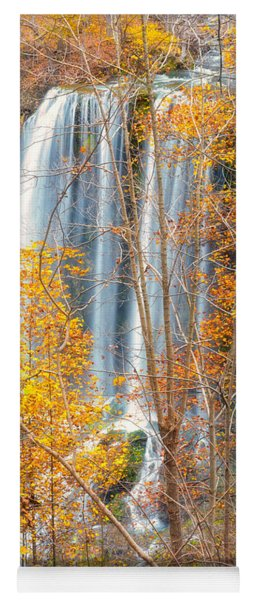 Yoga Mat featuring the photograph Waterfall Backdrop by Russell Pugh