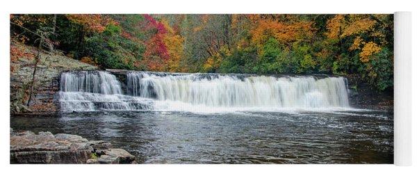 Waterfall In Autumn Yoga Mat