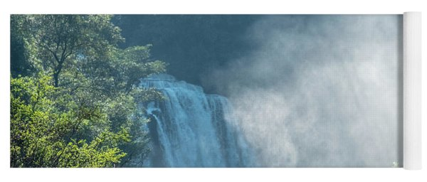 Waterfall, Sunlight And Mist Yoga Mat