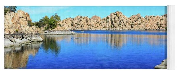 Watson Lake And Rock Formations Yoga Mat