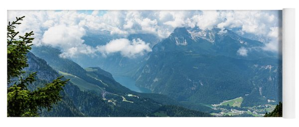 Watzmann And Koenigssee, Bavaria Yoga Mat