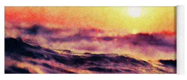 Waves At Sunrise Yoga Mat