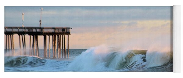 Yoga Mat featuring the photograph Waves At The Inlet Beach by Robert Banach