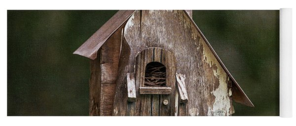 Yoga Mat featuring the photograph Weathered Bird House by Dale Kincaid