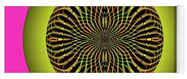 Yoga Mat featuring the digital art Weave Sun by Visual Artist Frank Bonilla