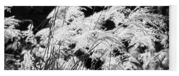 Weed Grass Black And White Yoga Mat