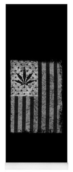 Weed Leaf American Flag Us Yoga Mat
