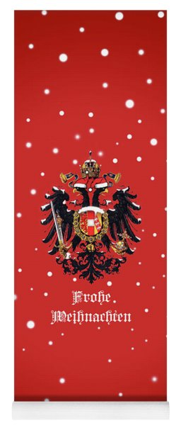 Yoga Mat featuring the digital art Weihnachtliche Habsburg Doppeladler by Helga Novelli