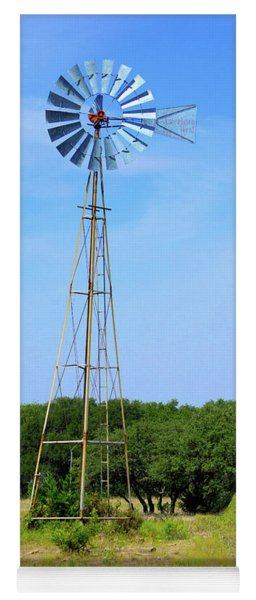 West Texas Windmill A9718 Yoga Mat