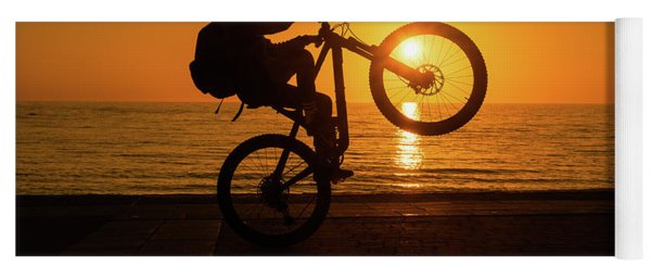 Wheelies At Sunset Yoga Mat