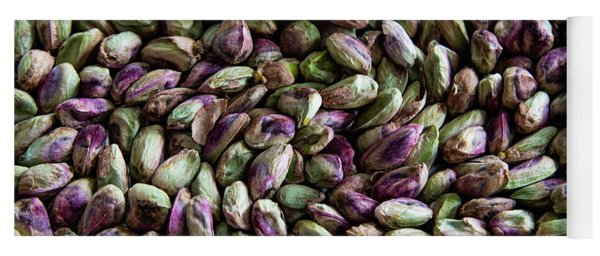 Yoga Mat featuring the photograph Whirling Pistachios by Mae Wertz
