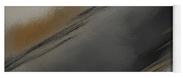 Whispered - Gray And Taupe Abstract Art Yoga Mat