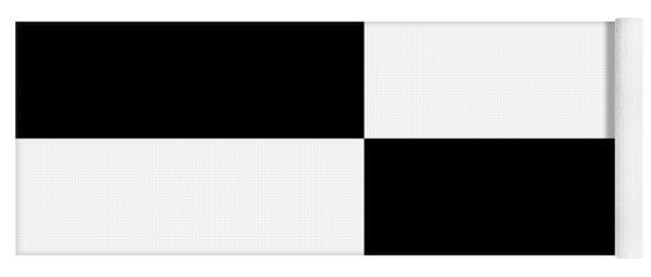 White And Black Squares - Ddh586 Yoga Mat