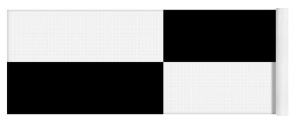 White And Black Squares - Ddh588 Yoga Mat