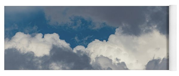 White And Gray Clouds Yoga Mat