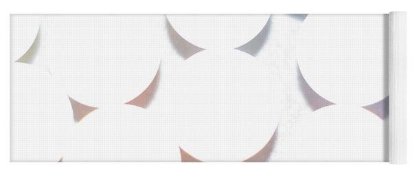 White Circles Yoga Mat
