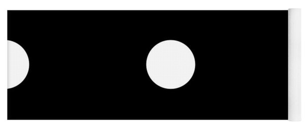 White Dots On A Black Background- Ddh612 Yoga Mat