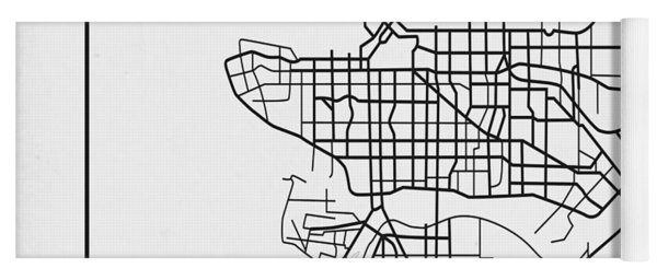 White Map Of Vancouver Yoga Mat