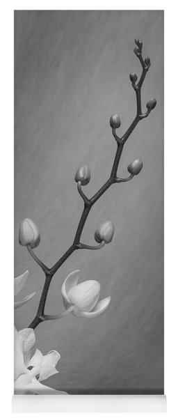 White Orchid Buds Yoga Mat