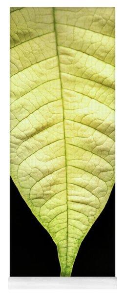 White Poinsettia Leaf Yoga Mat