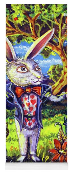 White Rabbit Alice In Wonderland Yoga Mat