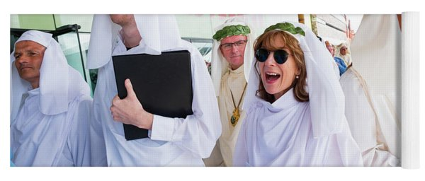 White Robed Bards At The Welsh National Eisteddfod Yoga Mat