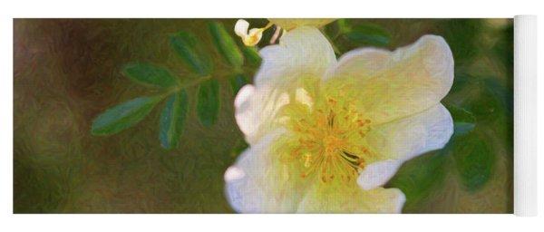 White Rose - Blushing Bride - By Omaste Witkowski Yoga Mat