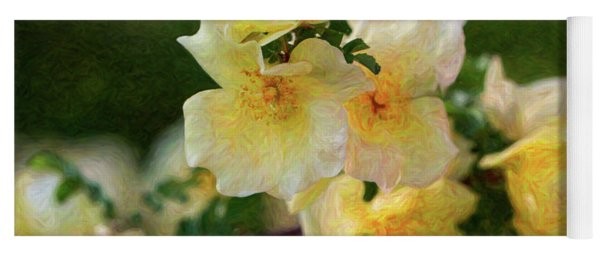 Yellow Rose - Patiently Waiting- By Omaste Witkowski Yoga Mat