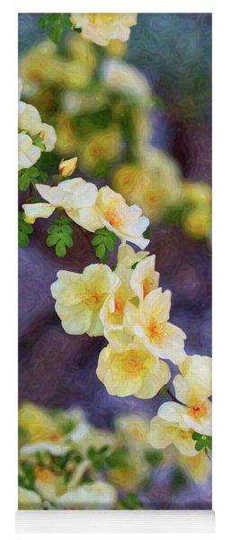 White Rose - Smooth Operator- By Omaste Witkowski Yoga Mat