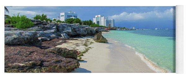 White Sandy Beach Of Cancun Yoga Mat