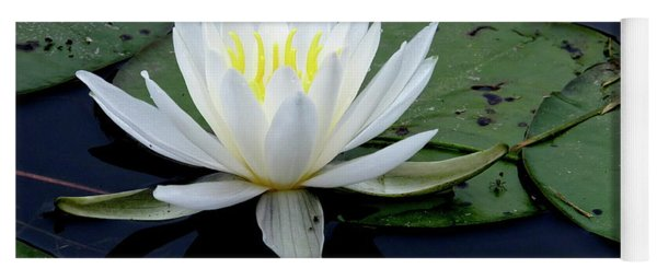 White Water Lilly Yoga Mat
