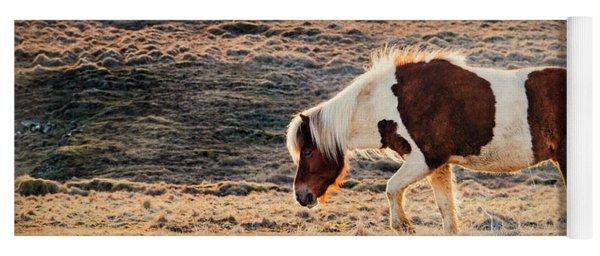 Wild Icelandic Horse Yoga Mat