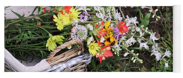 Wildflowers In A Basket Yoga Mat