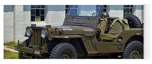 Yoga Mat featuring the photograph Willys Army Jeep 20899516 At Fort Miles by Bill Swartwout Fine Art Photography