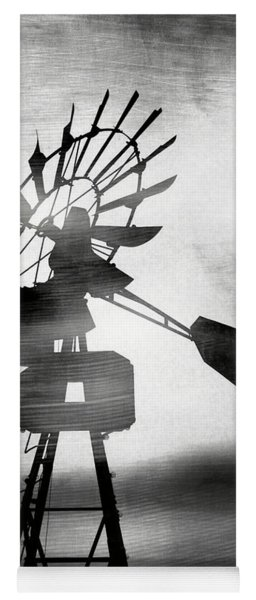 Windmill In The Wind- Art By Linda Woods Yoga Mat