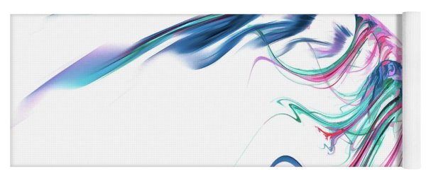 Wing Of Beauty Art Abstract Blue Yoga Mat
