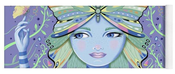 Insect Girl, Winga - Purple Yoga Mat