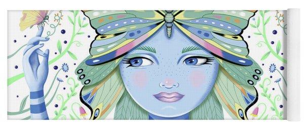 Insect Girl, Winga - White Yoga Mat