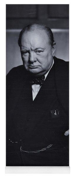 Winston Churchill In The Canadian Parliament Yoga Mat