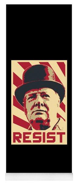 Winston Churchill Resist Yoga Mat