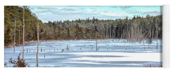 Winter At Lake Oswego Yoga Mat
